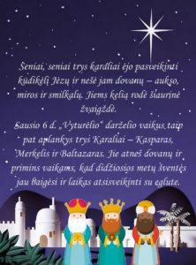 """ŠVENTINIS RYTMETYS """"TRYS KARALIAI"""""""